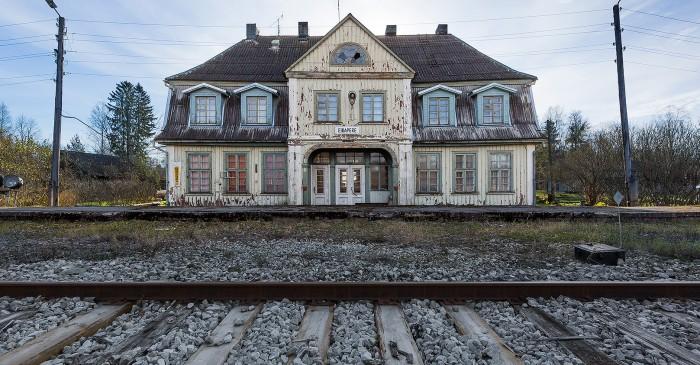 Eidapere raudteejaam Raplamaal. Foto: Kaido Haagen
